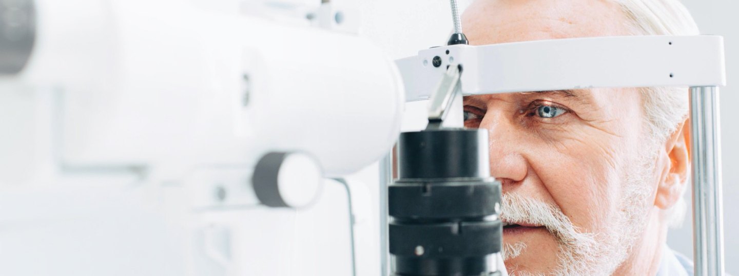 Person getting eye exam image