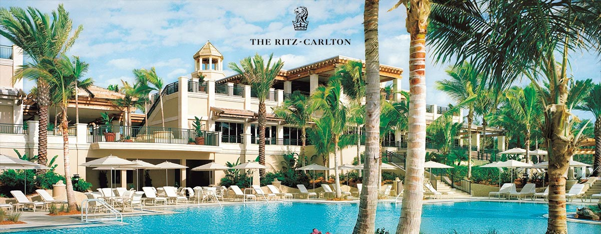 The Ritz Carlton hotel pool image